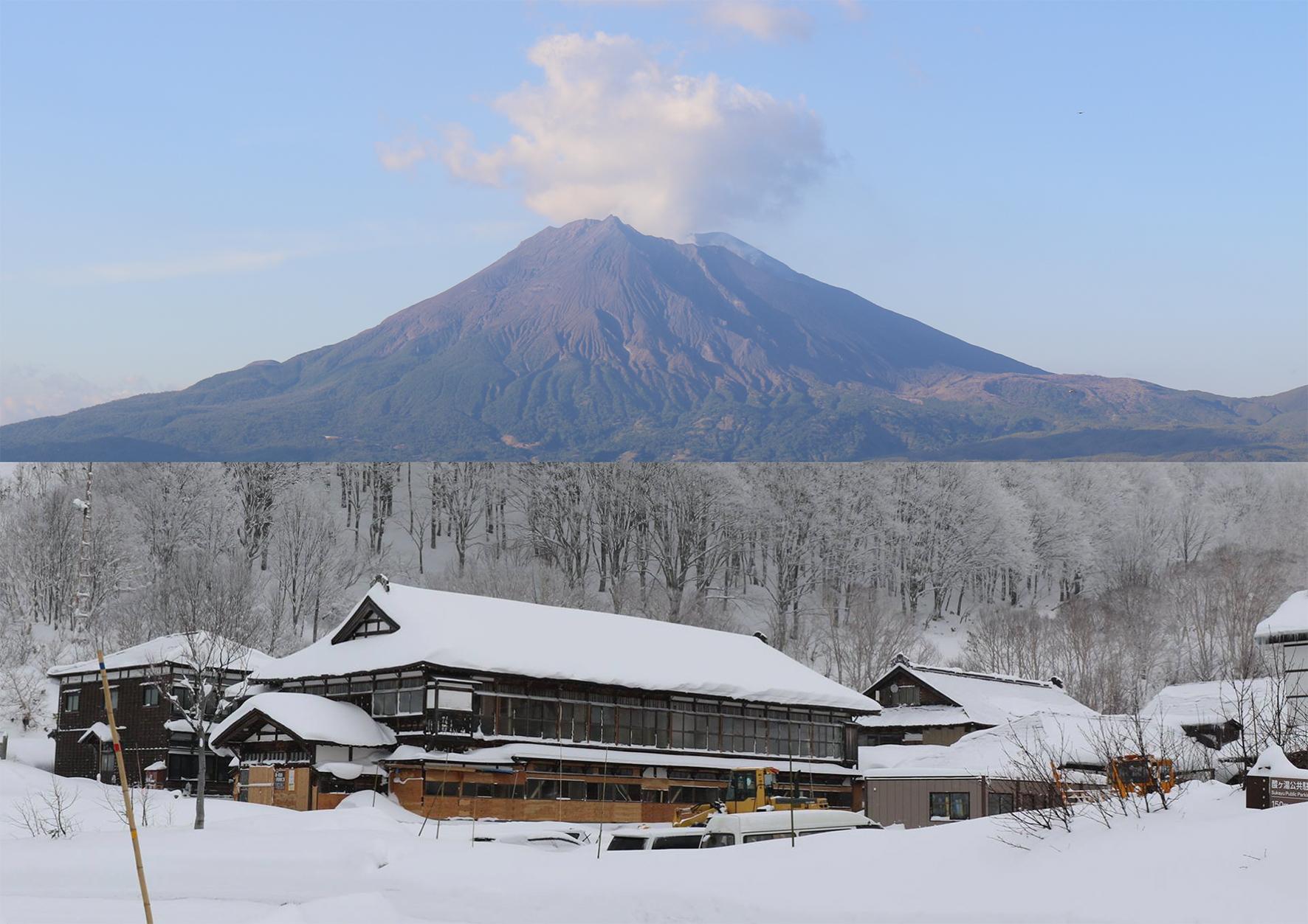 Tools for ash and snow from  Kagoshima / Aomori