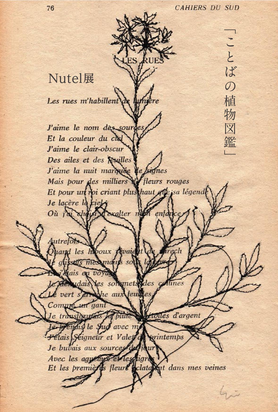 「ことばの植物図鑑」Nutel展