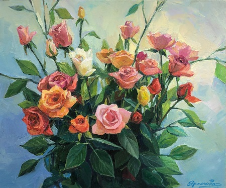 Flower extravaganza ヤロスラヴァの花アート