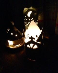 学びのカモコレ~心のonsen~アート楽部「クリスマスに贈るキャンドルホルダー」