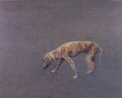 ≪ヤセ犬の散歩≫1997年都城市立美術館蔵