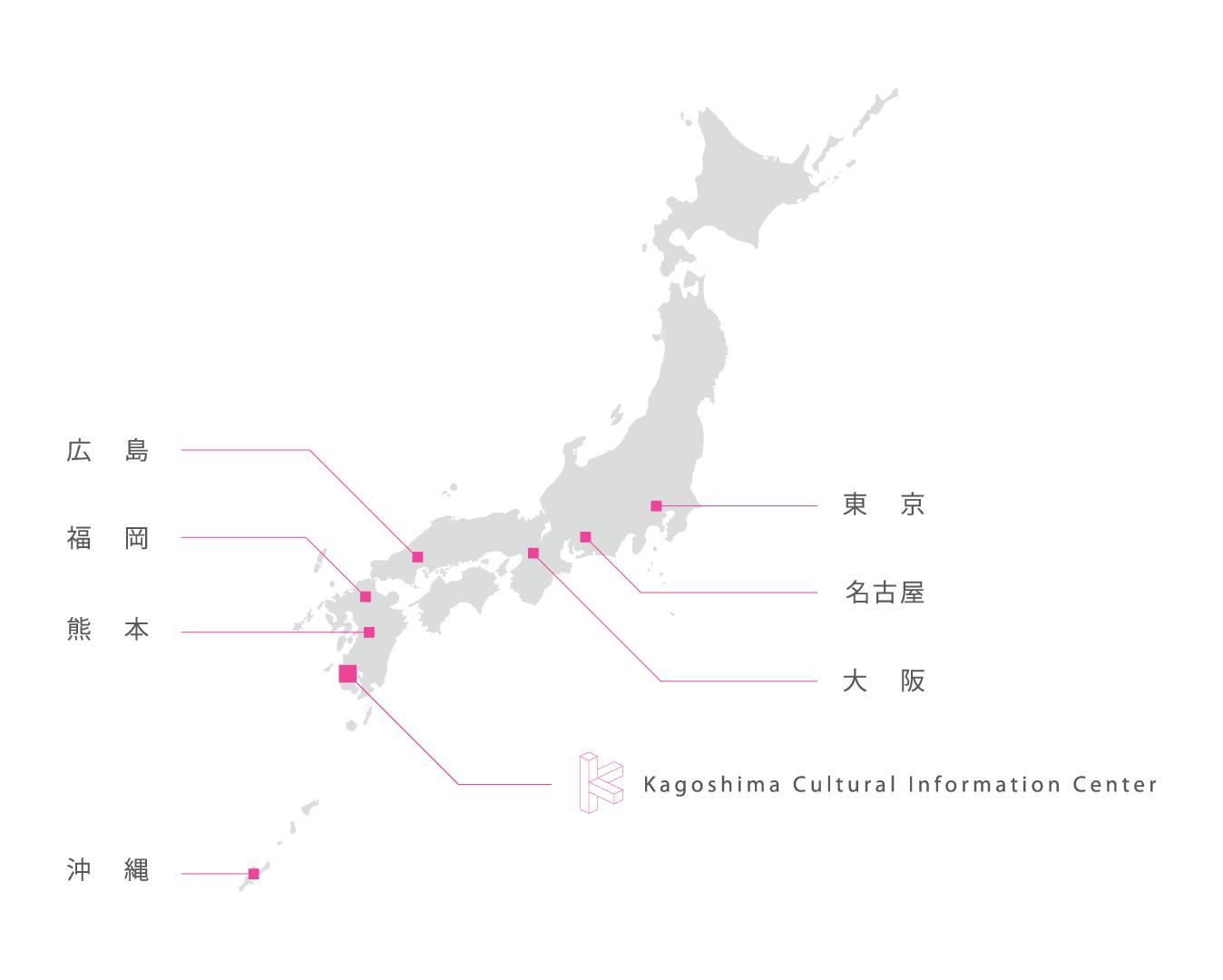 KCICマップ(日本地図)